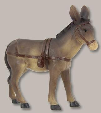 Unbekannt Krippenfiguren Esel f/ür Karren H/öhe 7,5cm geeignet f/ür 10-11cm Figuren