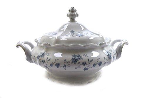 Johann Haviland Traditions Fine China Blue Garland Covered Casserole (China Fine China Casserole)