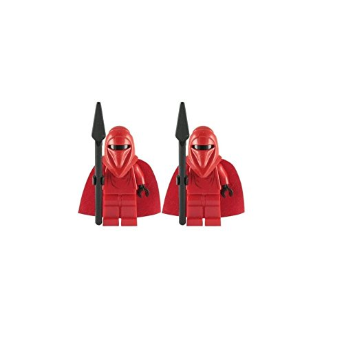 LEGO Star Wars Minifigures Set of 2 Royal Guards with Spear from Death Star (10188) (Death Star Ii Lego)
