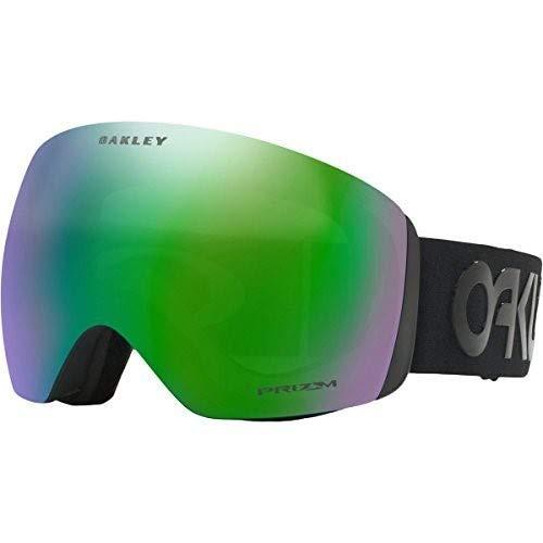 Oakley Flight Deck Asian Fit Snow Goggles, Factory Pilot Blackout Frame, Prizm Jade Iridium Lens, ()