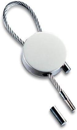 /à boucle Porte-clefs rond mat