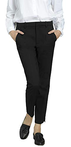 Rise Slim Women Pants - Marycrafts Women's Work Ankle Dress Pants Trousers Slacks ,Small,Black 2
