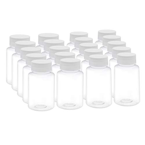 Mouth Environmental Sample Bottle - uxcell 3.4 oz/100ml PET Plastic Lab Chemical Reagent Bottle Wide Mouth Liquid/Solid Storage Container Clear Bottles w Tamper Evident Caps 20pcs