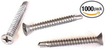 Self Drill Tek Screws Phillips Pan head Stainless Steel #12 x 3//4 Qty 1000