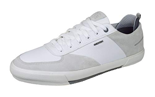 Geox Men's Leather Kaven Trainers White 12 US