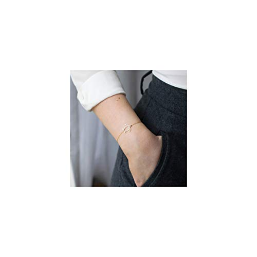 Mevecco Gold Dainty Turtle Bracelet for Women,14K Gold Plated Cute Tiny Elegant Delicate Boho Sea Tortoise Bracelet for Teen Girls ()