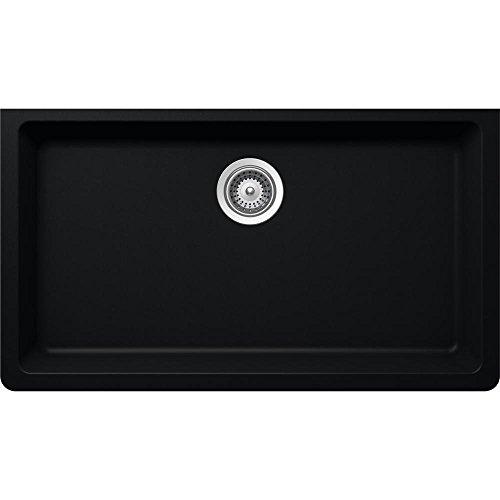 Elkay Elkay by Schock Undermount Quartz Composite 33 in. Single Basin Kitchen Sink in Black