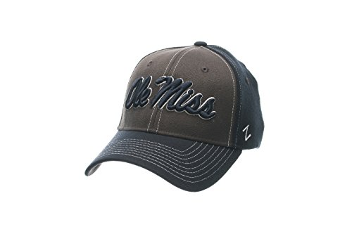 NCAA Notre Dame Fighting Irish Men's Powerhouse Z-Fit Cap, X-Large, Charcoal/Navy