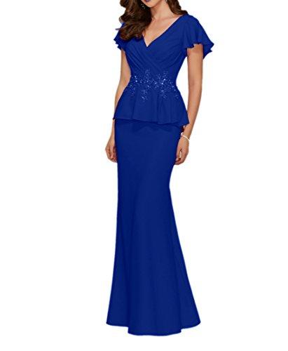 La mia Braut 2018 Neu Chiffon Abendkleider Ballkleider Brautmutterkleider Jugendweihe  Kleider Etuikleider mit Spitze Royal Blau AI9y4wXEIg 2f101f015d