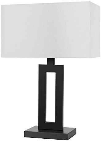 Globe Electric 67045 D Alessio 20 Table Lamp Matte Black White Linen Shade On Off Socket Rotary Switch Amazon Ca Tools Home Improvement