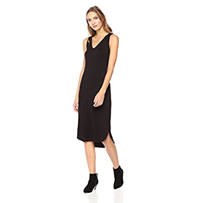 Brand - Daily Ritual Women's Jersey Sleeveless V-Neck Midi Dress: Clothing