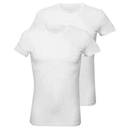 DSquared2 2er-Pack Jersey-Baumwolle Stretch Rundhalsausschnitt T-shirts, Weiß