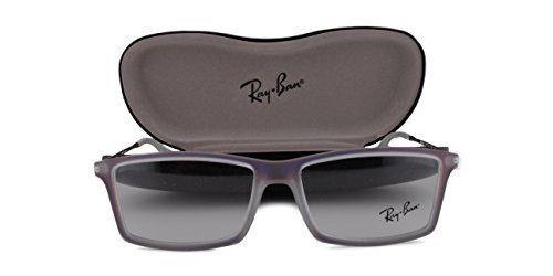 Ray Ban RX7021 Matthew Eyeglasses 55-14-140 Iridescent Violet 5498 RX - Ray Ban 6317
