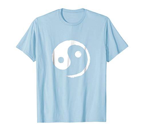 (Yin-Yang Taiji T-Shirt (White on Pastel))