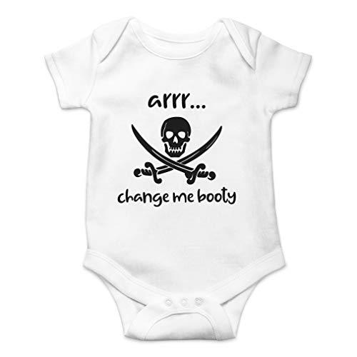 Arrr Change Me Booty - Hilarious Pirate Joke, Captain Adorable - Cute One-Piece Infant Baby Bodysuit (12 Months, White)]()