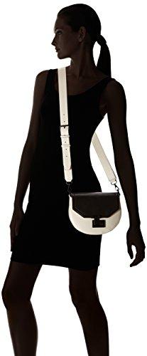 Rebecca Minkoff Medium Paris Schultertasche schwarz weiß