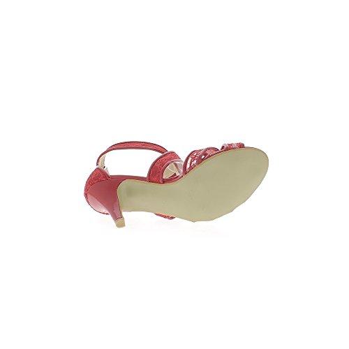 grande de tacón 9cm sandalias Encaje rojo de tamaño BvIxRqwfTn