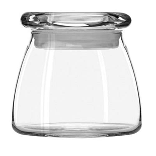 Libbey 4 oz Clear Vibe Jar with Pop Top Lid - 2.5 Inches by SmileMore