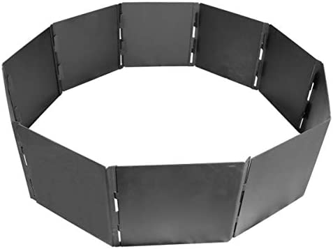 Titan Great Outdoors Portable Fire Pit Ring 40″ Diameter Heavy Steel