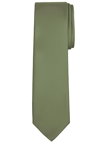 Jacob Alexander Solid Color Men's Regular Tie - Green Olive (Olive Tie Green)