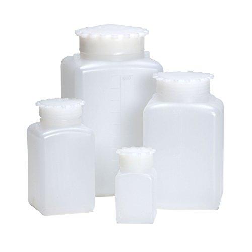 AZLON BGE336P Square Bottle, Plastic, HDPE, 500 ml (Pack of 10)