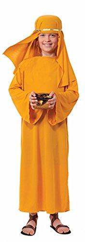 Boys Biblical Shepherd Gold Nativity Wisemen Robe And Sheik Bundle Medium 8-10