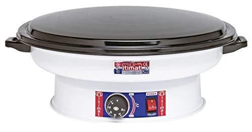 Itimat - Horno redondo con termostato, color blanco: Amazon.es: Hogar