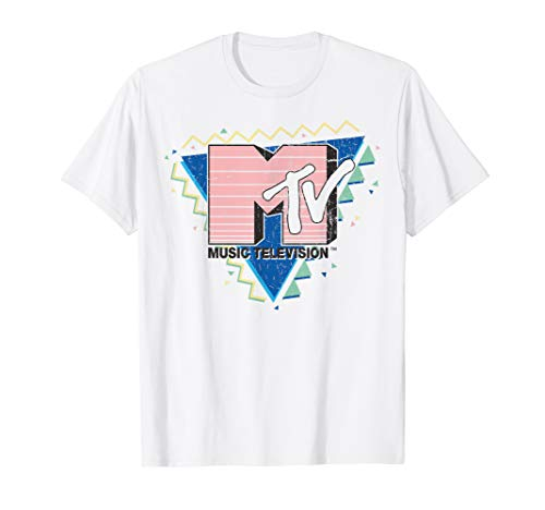 MTV Pink Stripes Logo 90's Retro Design Graphic T-Shirt ()