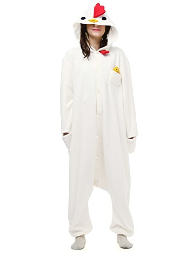 Belle House Chicken Adult Onesie Halloween Animal Cosplay Costumes Party, S 5.1''-5.4''(155-165cm) (Chicken Costumes For Adults)