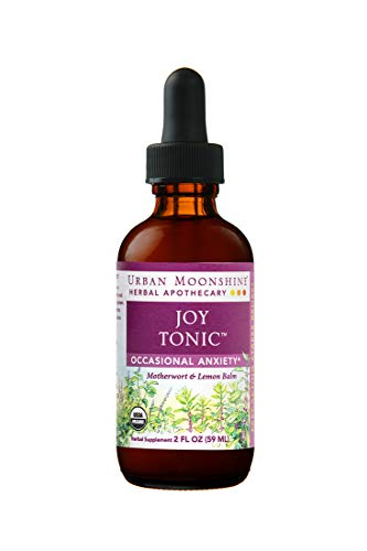 Urban Moonshine Joy Tonic | Organic Herbal Supplement for Occasional Anxiety | Motherwort & Lemon Balm | 2 FL OZ (Pack of 1)