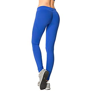 RUNNING GIRL Butt Lifting Leggings,Scrunch Butt Shaperwear Compression Leggings Workout Yoga Pants for Women (1068,L, RoyalBlue