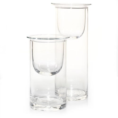 - Yankee Candle Everyday Glass Cylinder With Votive Inserts Votive Candle Holder