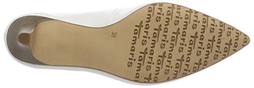 Tamaris Women's 22445 Closed Toe Heels White (White Matt 108) gNRhjrai