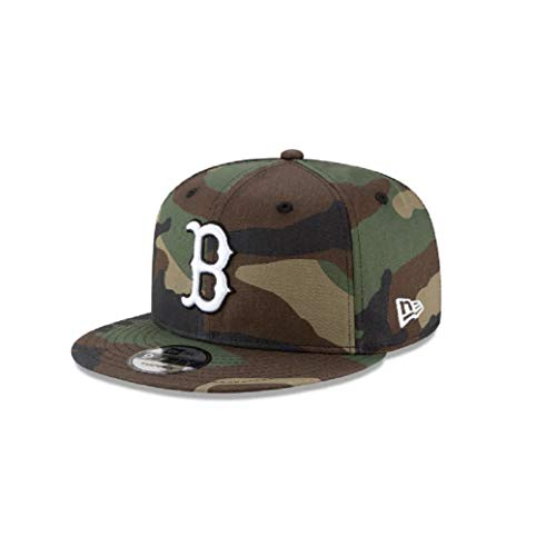 New Era Mens Boston RedSox Camouflage WDC 9Fifty Adjustable Snapback 950 Red Sox Cap