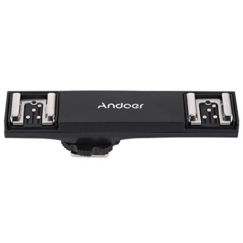 Andoer Dual Hot Shoe Flash Speedlite Bracket Splitter for Nikon D750 D7200 D7100 D7000 D800 D810 D600 DSLR Camera Camcorder