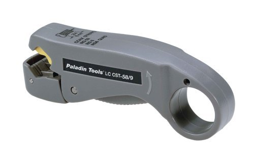 Paladin Tools PA1257 LC CST F Stripper for RG59/6/6 Quad/CATV by Paladin Tools