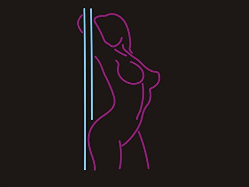 Stripper Pole Dance Neon Art Sign Real Glass Handmade Visual Artwork Home Decor Wall Light