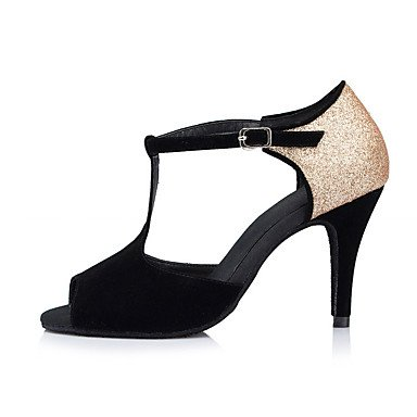 Zapatos Stiletto Negro black baile Latino Tacón de Personalizables rxrn1OR