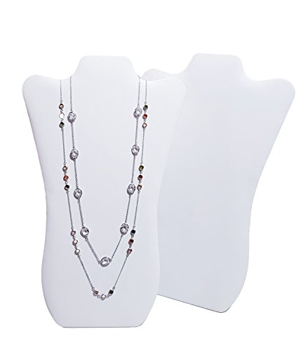 - 2 pieces White Tall Curved Necklace Easel Display 14