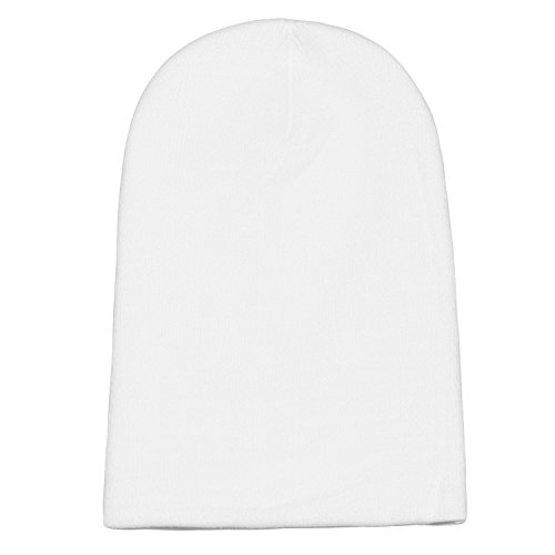 DonDon suave y beanie gorro Blanco abrigo diseño moderno invierno gorro slouch de de clásico rqwFr