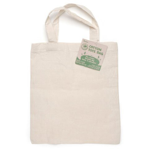 Bulk Buy: Darice DIY Crafts Cotton Tote Bag White 9.8 x 11.4 inches (12-Pack) 1146-73 by Darice (Image #1)