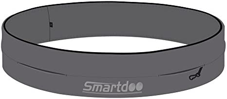 Smartdoo Running Belt, Runner Waist Belt for Men Women, Fitness Exercise Storage Bag Pouch, iPhone 6 6plus Grey,M