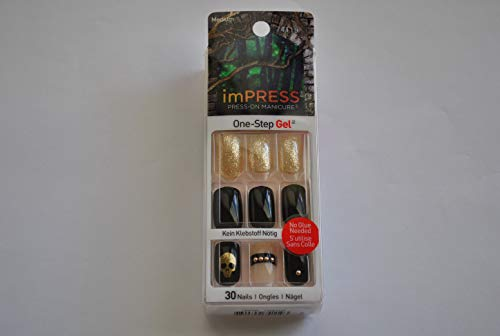 (Impress Press-on Manicure Halloween Edition Medium Length, Square Shape Nails -)