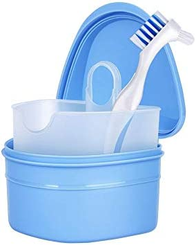 Eruditter Caja Dental Cepillo para Dentaduras Postizas Caja De Dentadura Limpieza Almacenamiento Diente Corrector Corrector Limpieza Cuidado Bucal Dentaduras Kits: Amazon.es: Hogar