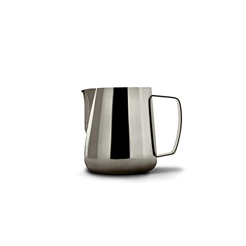 Precision Milk Frothing Pitcher for Professional Latte Art - Barista Hustle by World Champion Barista (Space Black, 400ml)