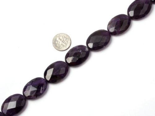 18x25mm Faceted Purple Amethyst Beads Strand 15 Inches Jewelry Making Beads