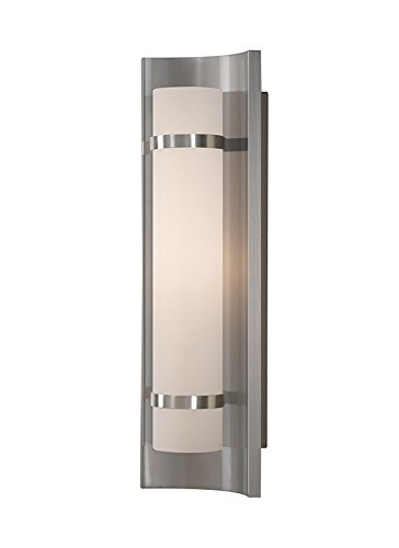 Murray Feiss WB1479BS, Colin Glass Wall Vanity Lighting,60 Total Watts Halogen, Steel (Steel Sconce Halogen)