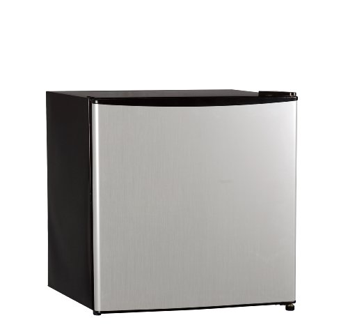 Midea WHS-52FSS1 Compact Single Reversible Door Upright Freezer, 1.1 Cubic Feet, Stainless Steel