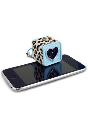 Ycross Rechargeable Bling Mini Speaker - Blue