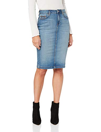 (Calvin Klein Jeans Women's Denim Pencil Skirt, Salt/Pepper, 32)